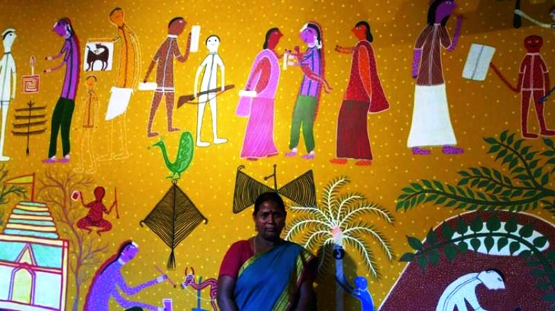 Woman gets Bhil tribal art world recognition